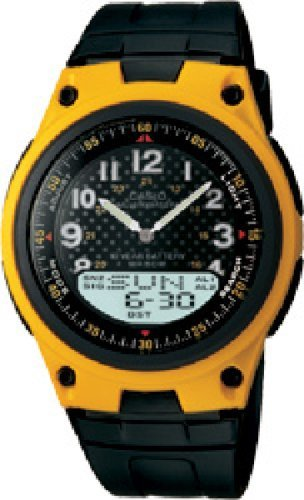 Casio Men's Quartz Analog Digital Black Resin Watch AW80-9