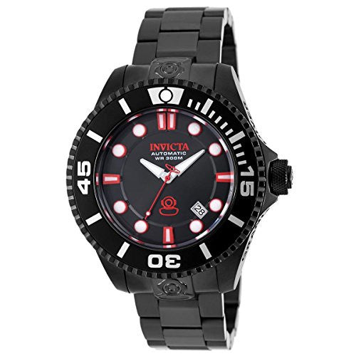 Invicta Men's Pro Diver Automatic 300m Black Stainless Steel Watch 19809