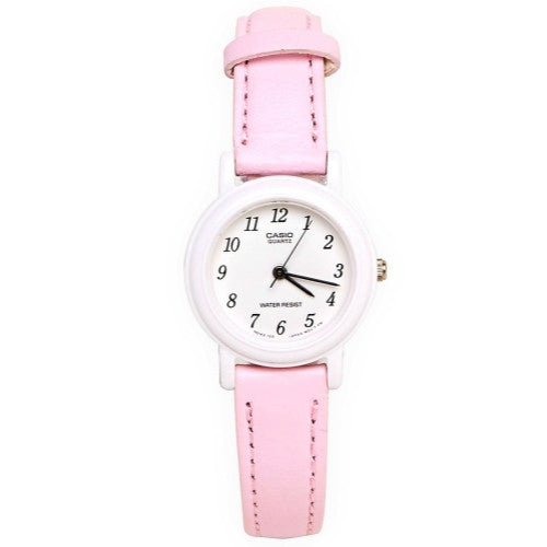 Casio Women's Light Pink And White Genuine Leather Watch LQ139L-4B1