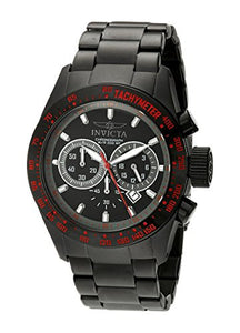 Invicta Men's Speedway Chrono 200m Black Ion Plated Stainless Steel Watch 19296