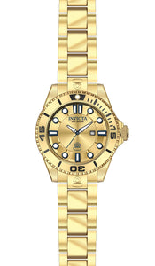 Invicta Women's Pro Diver 300m Quartz Gold Plated Stainless Steel Watch 19820