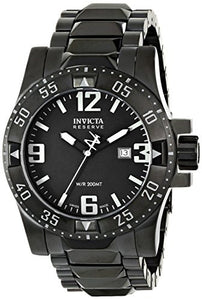 Invicta Men's Excursion Analog Quartz 200m Black Stainless Steel Watch 6250