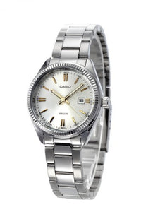 CASIO LADIES STAINLESS STEEL ANALOG WATCH LTP1302D-7A2