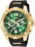 Invicta Men's I-Force Chrono 100m Gold S. Steel Black Polyurethane Watch 19661