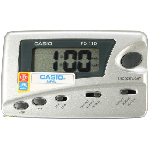 Casio Digital Traveler's Alarm Clock Snooze LED PQ11D