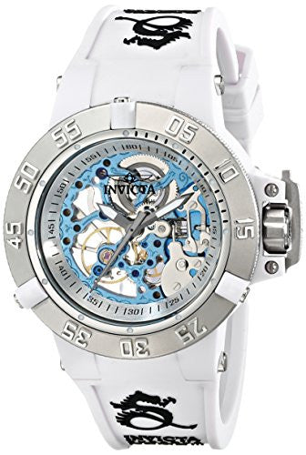 Invicta Women's Subaqua Mechanical 200m Plastic Case White Silicone Watch 17138