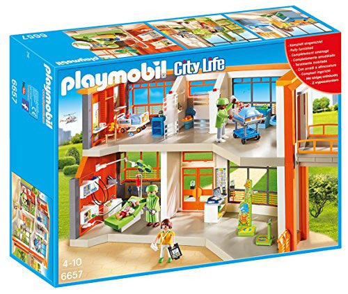 Playmobil City Life Furnished Children's Hospital 6657 (for Kids 4 to 10)