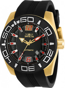 Invicta Men's Aviator Automatic 3 Hand Black Dial Watch 23531