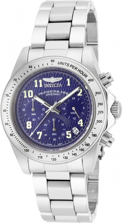 Invicta Men's Speedway Stainless Steel Chronograph Blue Dial Watch 17024