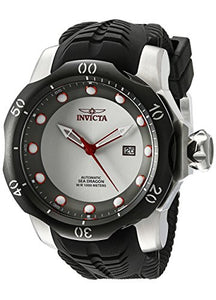 Invicta Men's Venom Automatic 1000m Stainless Steel Black Silicone Watch 19308