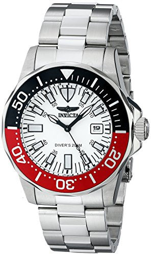 Invicta Men's Signature Automatic 200m White Dial Stainless Steel Watch 7044