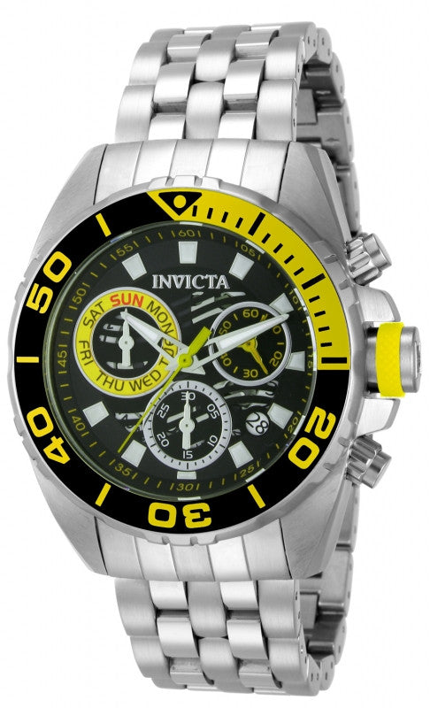 Invicta Men's 14723 Pro Diver Quartz Chronograph Black Dial Watch