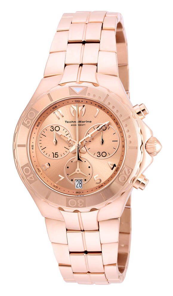 Technomarine Men's TM-715006 Sea Pearl Quartz Chronograph Rose Dial Watch