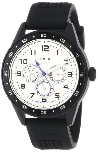 Timex Men's Chronograph Water Resistant Analog Quartz Black Resin Watch T2P045