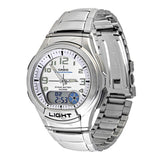 Casio Men's General Analog 10-Year Battery Stainless Steel Watch AQ180WD-7BV