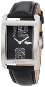 Lacoste Andorra Black Dial Black Leather Ladies Watch 2000677