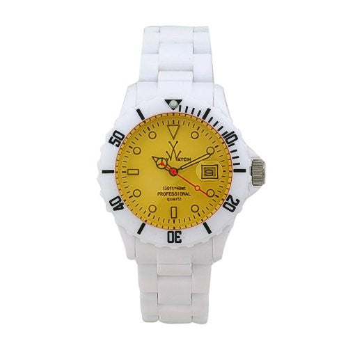 white unisex watch