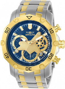 Invicta Men's Pro Diver Multifunction Blue Dial Stainless Steel Watch 22762
