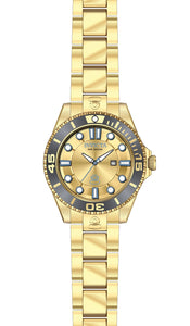 Invicta Women's Pro Diver 300m Quartz Gold Plated Stainless Steel Watch 19824