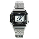 Casio Women's Stopwatch Alarm Digital Stainless Steel Watch LA680WA-1DF