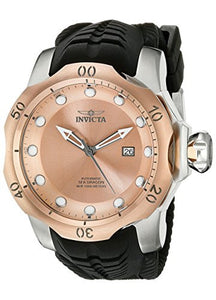 Invicta Men's Venom Automatic 1000m Stainless Steel Black Silicone Watch 19313