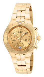 Technomarine Men's TM-715004 Sea Pearl Quartz Chronograph Gold Dial Watch