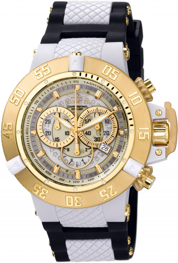Invicta Men's Subaqua Chrono 200m Stainless Steel/Silicone/Plastic Watch 0928