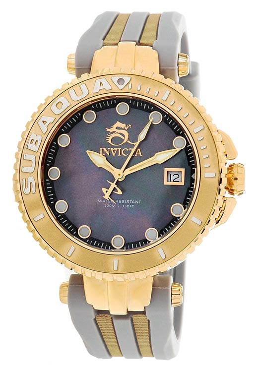 Invicta Women's Subaqua Quartz 100m Stainless Steel/Grey Silicone Watch 27355