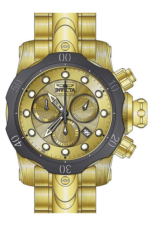 Invicta Men's Venom Quartz Chronograph Gold Dial Watch  23894