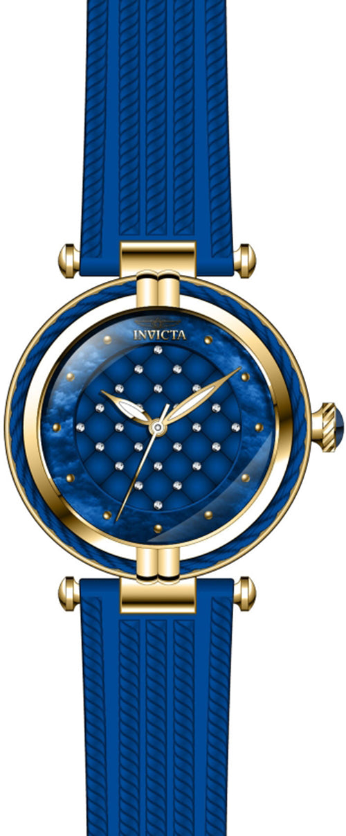 Invicta Women's Bolt Gold Tone Stainless Steel/Blue Polyurethane Watch 28945