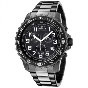 Invicta Men's Specialty Chronograph Quartz Gunmetal Stainless Steel Watch 1328