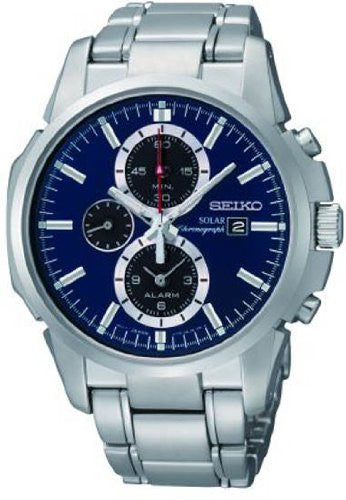Seiko Solar Alarm Chronograph with Date Men's Watch SSC085