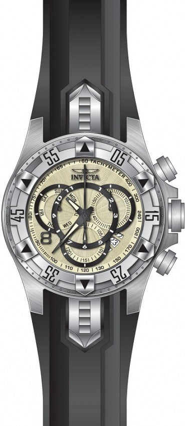 Invicta Men's Excursion Chrono 200m Stainless Steel Black Silicone Watch 24270