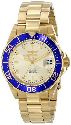 Invicta Men's Pro Diver Automatic 200m Gold Plated Stainless Steel Watch 9743