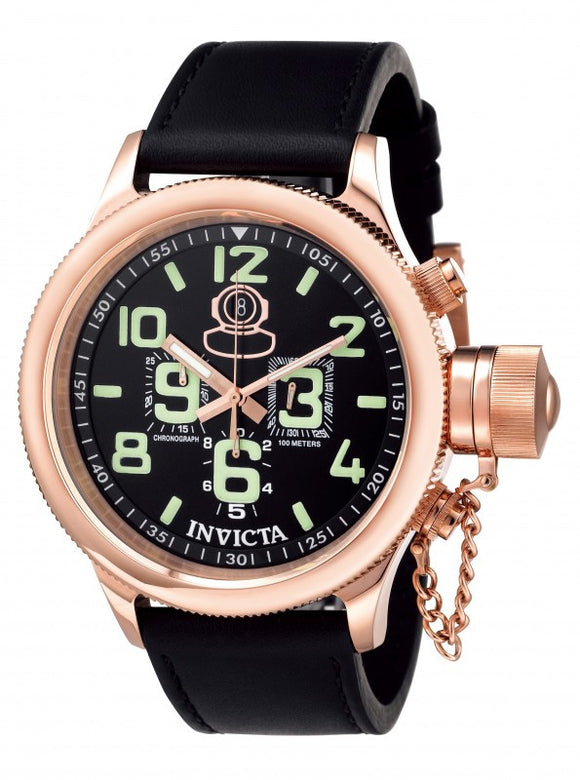 Invicta Men's Russian Diver Chronograph 100m Stainless Steel Leather Watch 7104