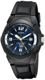 Casio Men's Analog Date 10-Year Battery, Black Resin Watch MW600F-2AV