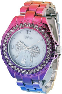Brand New Disney Mickey Mouse Women's MK2103 Crystal Bezel Hot MultiColor Bracelet Watch IGN