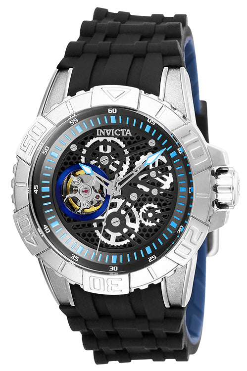 Invicta Men's Pro Diver Chronograph 100m Stainless Steel Silicone Watch 25410