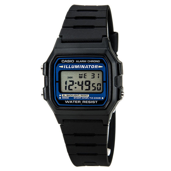 Casio Men's Digital Water Resistant Black Illuminator Watch F105W-1A
