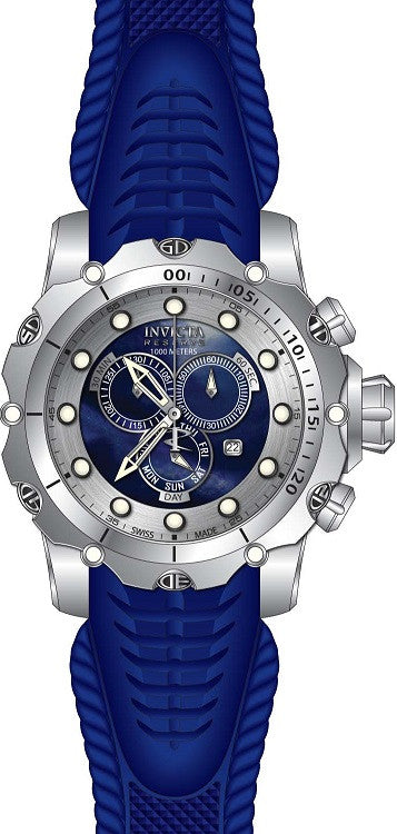 Invicta Men's Venom Chronograph 1000m Stainless Steel Blue Silicone Watch 20397