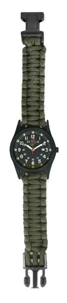 Caliber Marines Basic Field Watch With OD Paracord/Survival Strap 0300-5