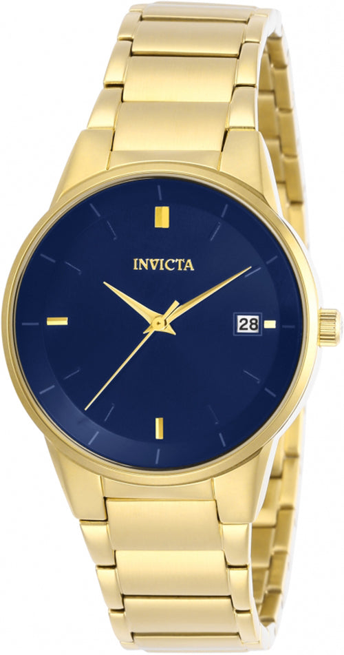 Invicta Women's Specialty Quartz Blue Dial Gold Tone Stainless Steel Watch 29492
