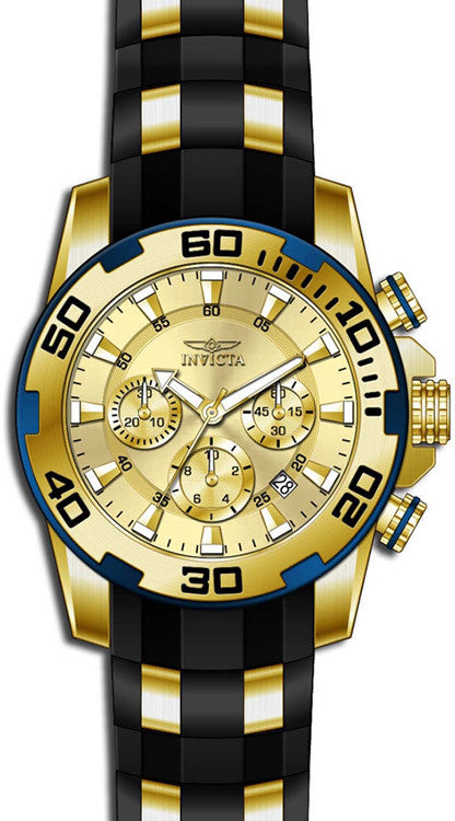 Invicta Men's Pro Diver Quartz Chronograph Gold Dial Watch 22345