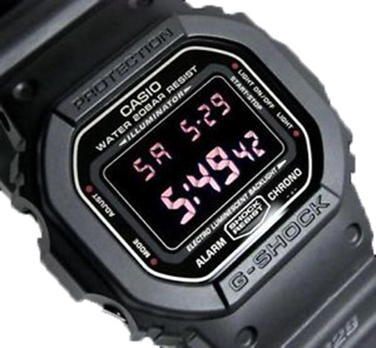 Casio G-Shock Military Inspired Digital 200m Black Resin Watch DW5600MS-1
