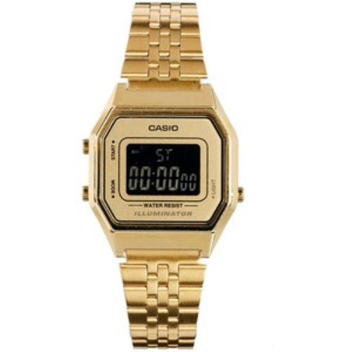 Casio LA680WEGA-9BER Gold Tone Steel Bracelet watch