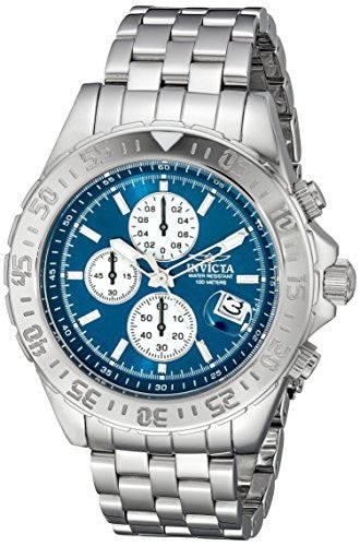 Invicta Men's Aviator Chronograph Analog Quartz 100m Stainless Steel 20087