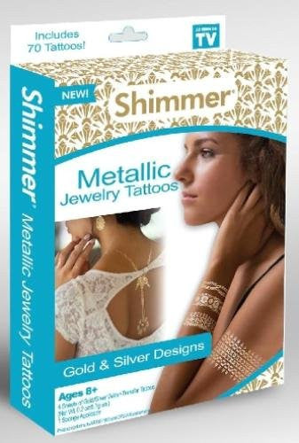As Seen on TV Shimmer Hypoallergenic/Non Toxic Metallic Jewelry Temporary Tattoo