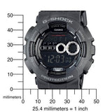 Casio G-Shock X-Large 200m High Intensity LED Black Resin Watch GD100-1B