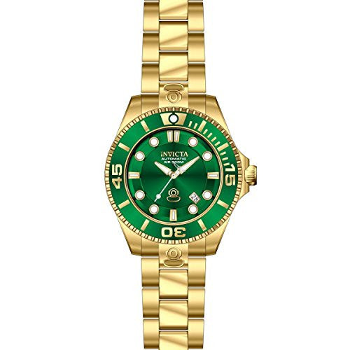 Invicta Men's Pro Diver Automatic 300m Green Dial Stainless Steel Watch 19805