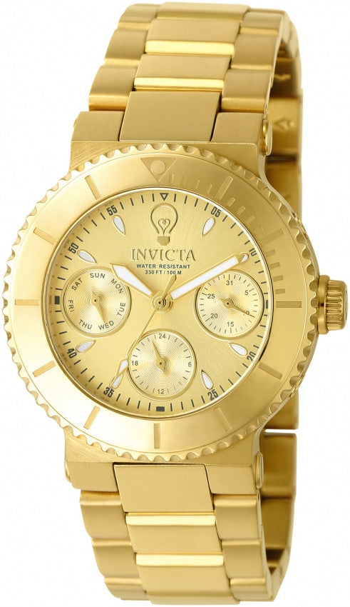 Invicta Women's Gabrielle Union Chrono Gold Tone Stainless Steel Watch 22895